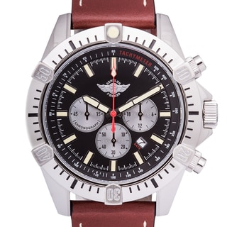 Zentler Freres Ravenmocker Pilot's Men's Miyota OS20 Movement Chronograph Watch with Genuine Leather Strap