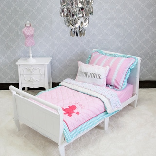 Pam Grace Creations Posh in Paris Toddler Bedding Set