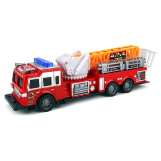 Velocity Toys Top Rank Fire Trailer Friction Toy Truck Ready To Run