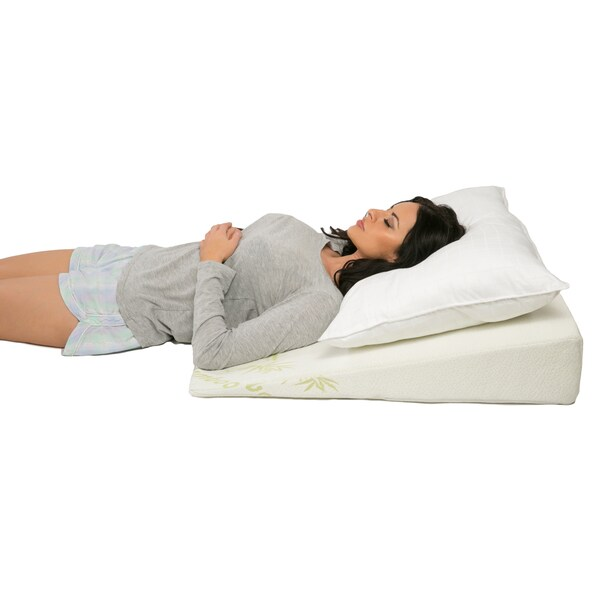 Foam Padded Bed Wedge with Rayon from Bamboo Cover