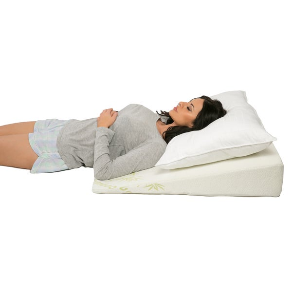 Shop Bamboo Bed Wedge 6 Quot Height Pillow With Padded