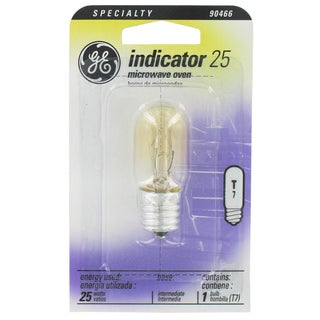 GE Lighting 10692 25 Watt Clear T7 Appliance Light Bulb