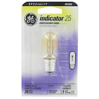 GE  Intermediate Screw (E17)  Appliance Light Bulb  25 watts 195 lumens