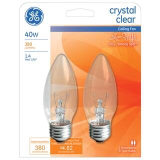 GE Lighting 12993 40 Watt Blunt Tip Chandelier Light