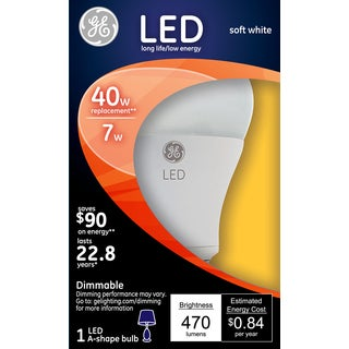 GE Lighting 14194 40 Watt Soft White A19 Dimmable LED Bulb