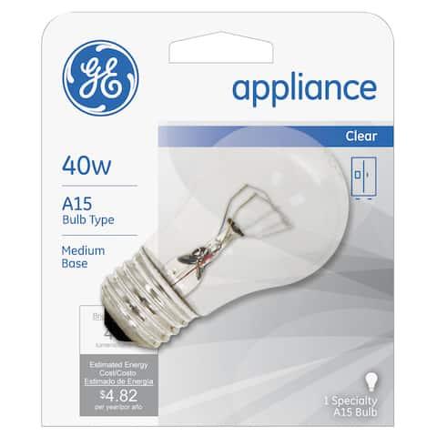 GE Lighting 15206 40 Watt Appliance Light Bulb