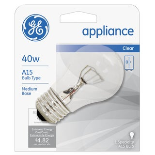 GE Lighting 15206 40 Watt Appliance Light Bulb