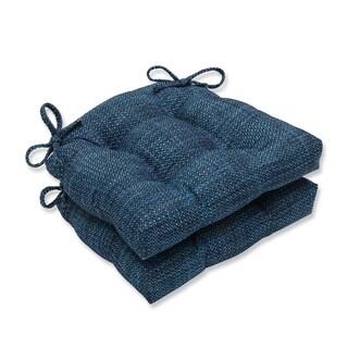 Pillow Perfect Tweak Azure Reversible Chair Pad (Set of 2)
