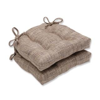 Pillow Perfect Tweak Nutria Reversible Chair Pad (Set of 2)