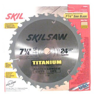 "Skil 75924 SkilSaw Titanium 7-1/4"" Saw Blade Finishing/Crosscutting - Silver"