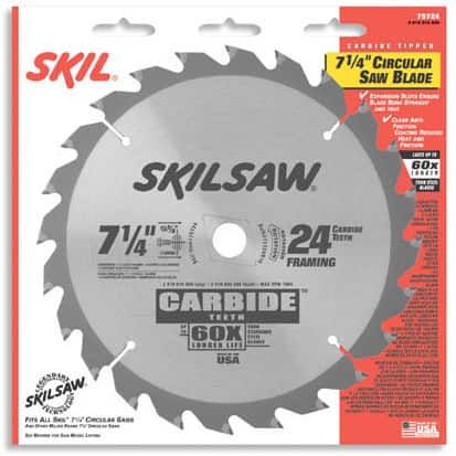 Skil 75724 Framing & Crosscutting Carbide Tipped Circular Saw Blade