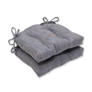 Pillow Perfect Tweak Bluestone Reversible Chair Pad (Set of 2)