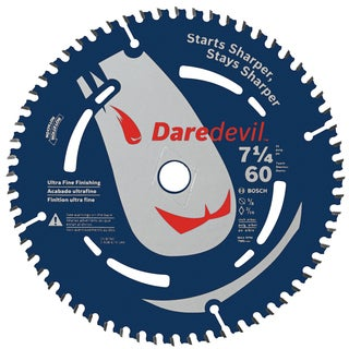 "Daredevil DCB760 7-1/4"" 60 TPI Daredevil Blade For Portable Saws"