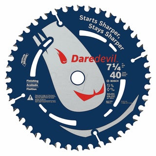"Daredevil DCB740 7-1/4"" 40 Tooth Portable Circular Saw Blade"