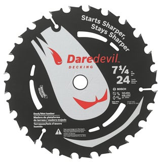 "Daredevil DCB724D 7-1/4"" 24 TPI Daredevil Blade For Portable Saws"