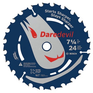 "Daredevil DCB724C10 7-1/4"" 24 TPI Daredevil Blade For Portable Saws"