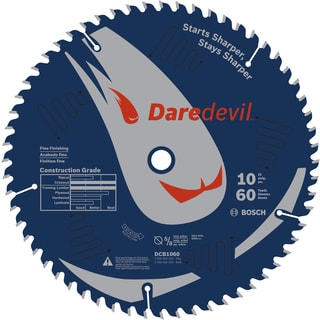 "Daredevil DCB1060 10"" 60 TPI Daredevil Blade For Table & Miter Saws"