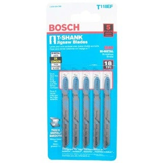 "Bosch T118EF T-Shank Bi-Metal Jig Saw 3-5/8"" Blades"