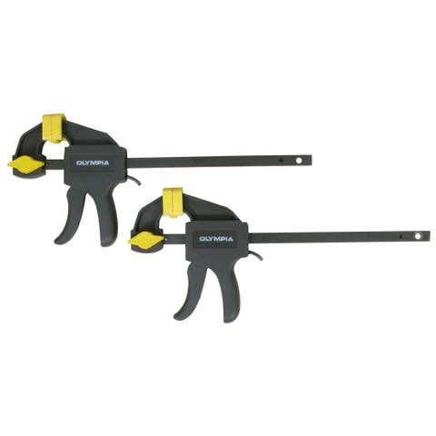 "Olympia Tools 38-230 4"" Mini Ratcheting Bar Clamp & Spreaders Set 2-count"