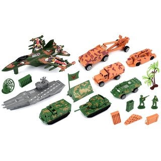 Velocity Toys Special Forces Army Territory Toy Vehicle Playset with Variety of Vehicles
