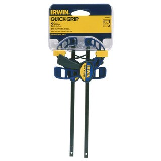 "Irwin Quick Grip 530062 2-count 4-1/2"" Quick-Grip One-Handed Micro Bar Clamp"