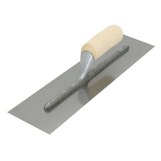 "QLT by Marshalltown 990S 11"" X 4.5"" Plastering Trowel With Wood Handle"