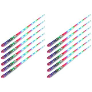Velocity Toys Clear Star Flashing LED Light Up Party Favor Toy Light Sword Sabers (Set of 12)