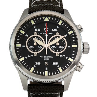 Tschuy - Vogt AC1 Sentinel Men's Ronda 5021.D Sapphire Intense Superluminova Swiss Chronograph Watch