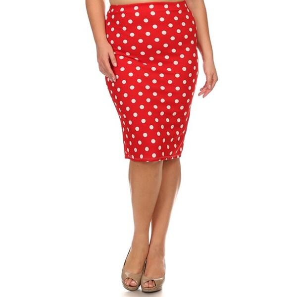 moa collection plus polka dot pencil skirt free shipping
