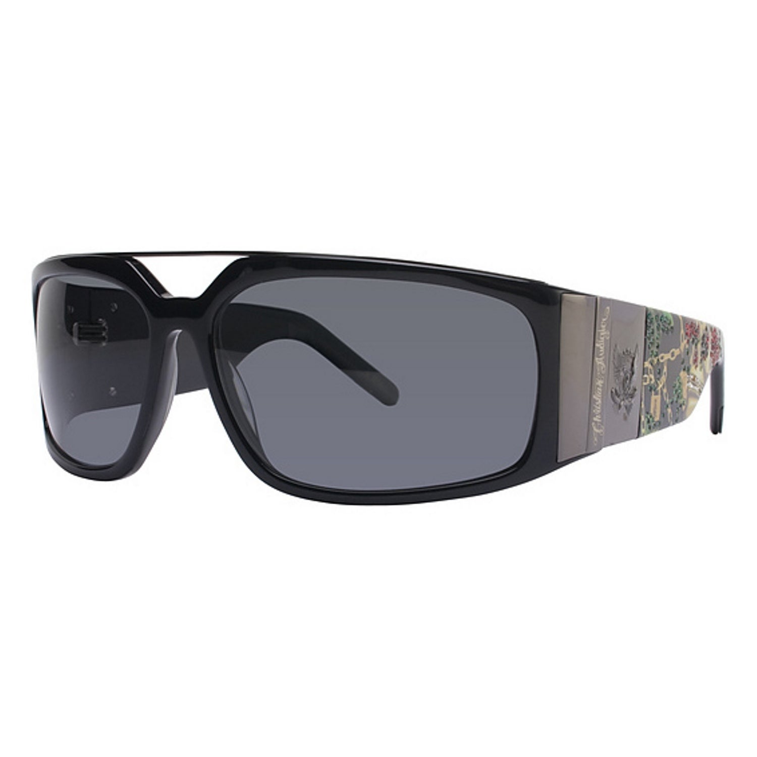 Ed Hardy Christian Audigier 407 Color Black Sunglasses (B...