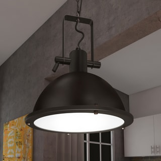 Vonn Lighting Dorado 11-inches LED Pendant Light Adjustable Hanging Industrial Pendant Lighting in Architectural Bronze
