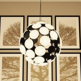 Vonn Lighting Kastra 19-inches Celestial Mutli-Light LED Adjustable Hanging Light Modern Globe Chandelier Lighting in Black