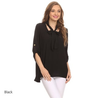 MOA Collection Women's Top with Neck Tie