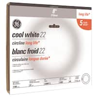 GE  Fluorescent Bulb  22 watts 1100 lumens Circline  T9  8.25 in. L Cool White  1 pk
