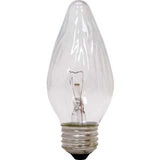 GE Lighting 22756 25 Watt Crystal Clear Blunt Tip Light Bulb