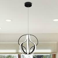 VONN Lighting VMC32430BL Capella  21-inch LED Modern Globe Chandelier in Black