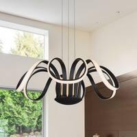 VONN Lighting VMC32420BL Capella 30-inch LED Modern Flower-Pedal Chandelier in Black