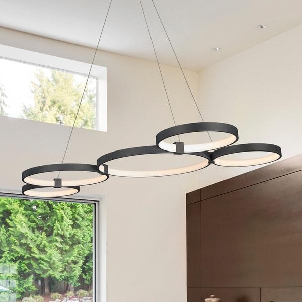 Shop VONN Lighting Capella 50-inch LED Multi-ring Black