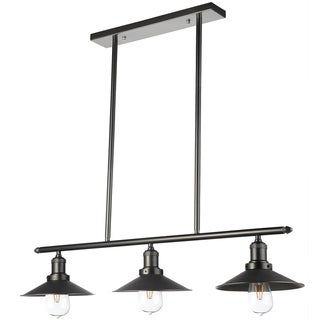 Vonn Lighting Delphinus 35-inches LED Linear Industrial Chandelier Lighting with LED Filament Bulbs in Architectural Bronze