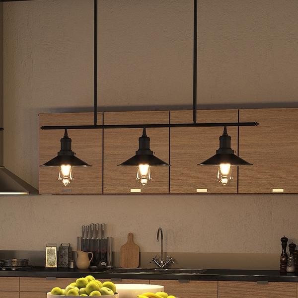 vonn lighting vvc31013bz delphinus 35inch led linear industrial bronze chandelier with led filament