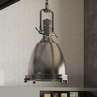 VONN Lighting VVP21011SN Dorado 14-inch LED Hanging Adjustable Industrial Satin Nickel Pendant Light