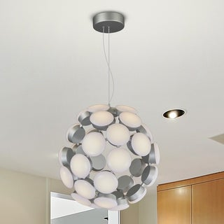 Vonn Lighting Kastra 19-inches Celestial Mutli-Light LED Adjustable Hanging Light Modern Globe Chandelier Lighting in Silver