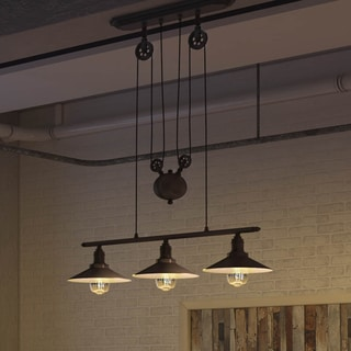 Vonn Lighting Delphinus VVC31023BZ 35 Inch Linear Adjustable Industrial  Bronze Chandelier Lighting With LED Filament