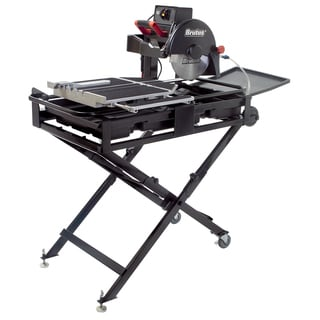 "QEP 61024BR 24"" Tile Saw Pro With Waterstand & Folding Stand"
