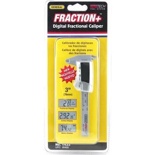 "General 1433 3"" Carbon Fiber Digital Fractional Caliper"