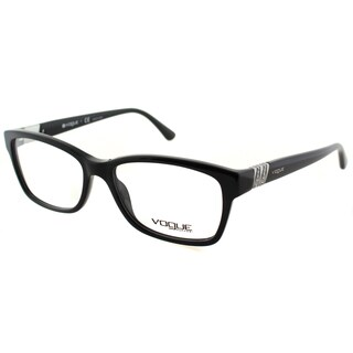 Vogue Eyewear Women's VO 2765B W44 53mm Black Plastic Square Eyeglasses (As Is Item)