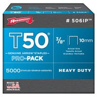 "Arrow Fastener 506IP 3/8"" T50 Staples"