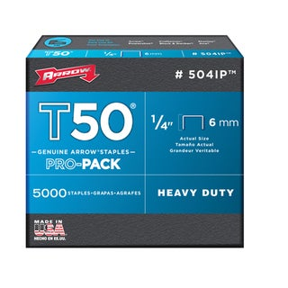 "Arrow Fastener 504IP 5000-count 1/4"" T50 Staples"