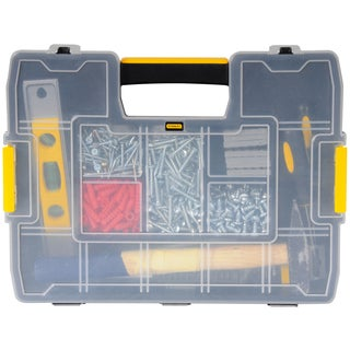 "Stanley Hand Tools STST14022 11-1/2"" X 14-3/4 Plastic Lock Jaw Utility Box"