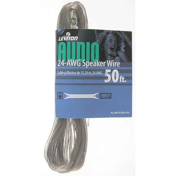 Leviton 800-X3301-25C 25\' 18 Gauge Audio Speaker Wire - Free ...